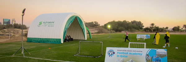 Inflatable Shelter and Shading, Qatar